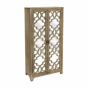 Butler Specialty Morjanna Mirrored 4 Shelf Armoire