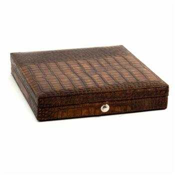 Bey-Berk Croco Leather Cigar Humidor