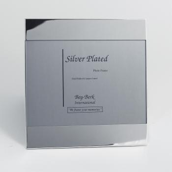 Bey-Berk Silver-Plated Wide Top and Bottom 5 x 7 in. Photo Frame - Tarnish Proof