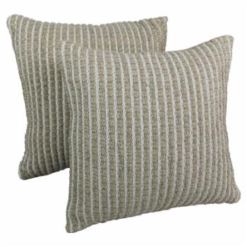Blazing Needles 20 x 20 in. Woven Look Rope Corded Pillow - Set of 2