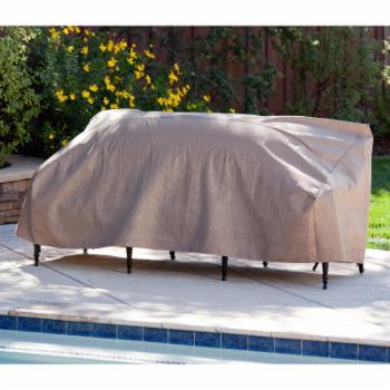 Duck Covers Elite Patio Loveseat Cover with Optional Rechargeable Inflator
