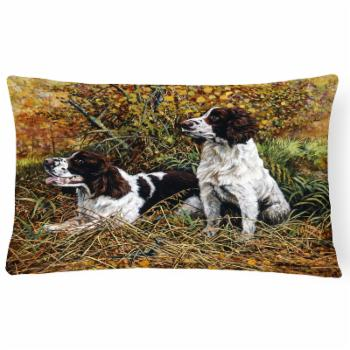 Carolines Treasures 2 Springer Spaniels in the Grasses Rectangle Decorative Pillow