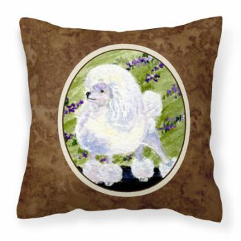 Carolines Treasures Poodle Polyester Decorative Outdoor Pillow