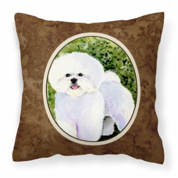 Carolines Treasures Bichon Frise Polyester Square Outdoor Pillow