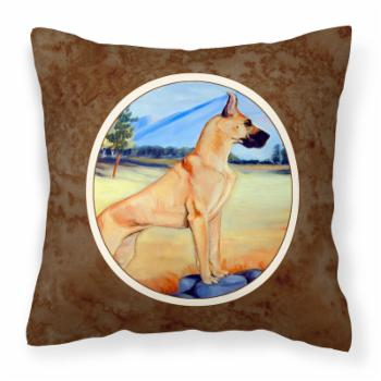 Carolines Treasures Great Dane on Rocks Decorative Outdoor Pillow