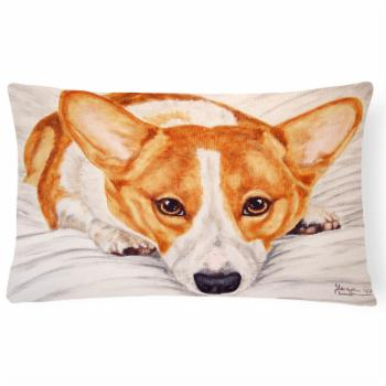 Carolines Treasures Fiona Corgi Rectangular Decorative Outdoor Pillow