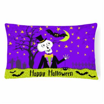 Carolines Treasures Happy Halloween Skeleton Decorative Outdoor Pillow