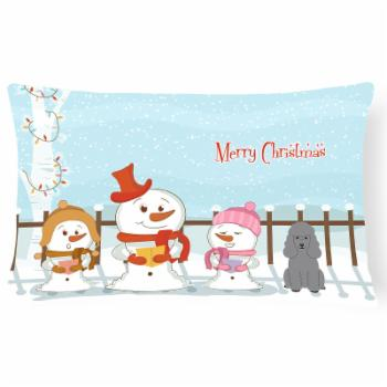 Carolines Treasures Merry Christmas Carolers Poodle Outdoor Pillow