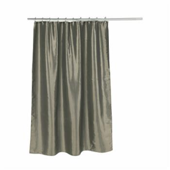Carnation Home Fashions Shimmer Faux Silk Polyester Shower Curtain
