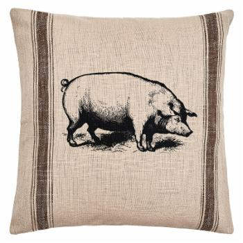 C&F Home Pig Feed Sack Decorative Pillow