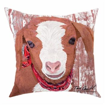 C&F Home Outdoor Pillow - Goat by Patti Gay