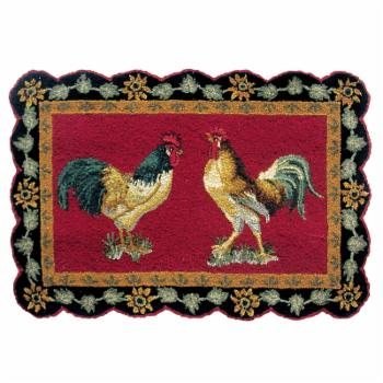 C&F Home French Country Rooster Indoor Doormat