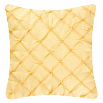 Diamond Tuck Yellow Throw Pillow by C&F Home