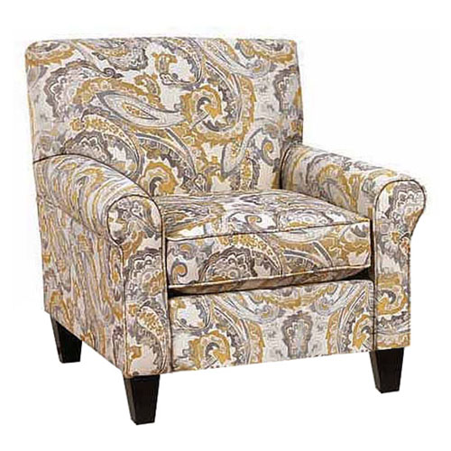 Chelsea Home Furniture Darryl Paisley Upholstered Arm Chair With Optional  Ottoman