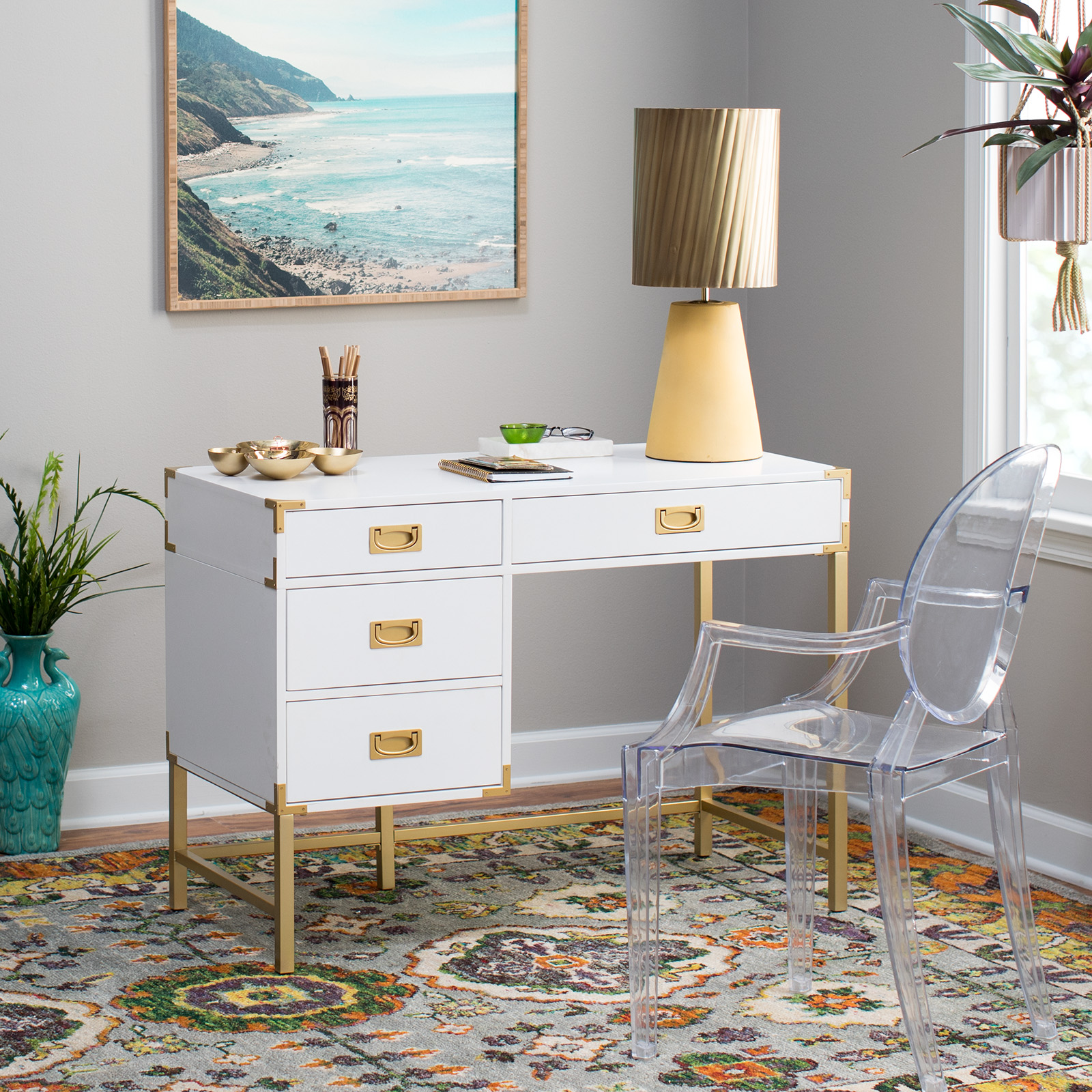 Belham Living Amelia C&aign Desk & Desks with File Cabinets | Hayneedle