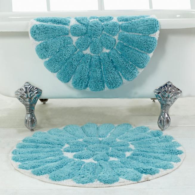 Chesapeake Bursting Flower Bath Rugs Set Of 2