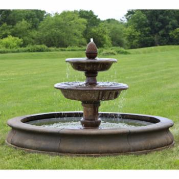 Campania International Beaufort Cast Stone Outdoor Fountain