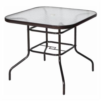 Cloud Mountain Square Wrought Iron 32 in. Patio Dining Table