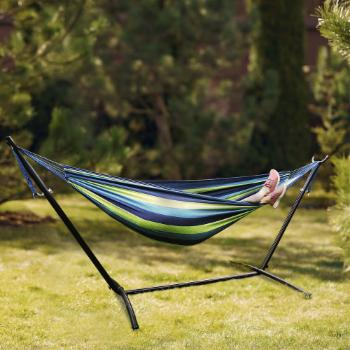Cloud Mountain Portable Double Hammock with Stand and Carrying Bag