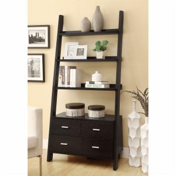 Coaster Furniture Ladder Bookcase with 4 Drawers