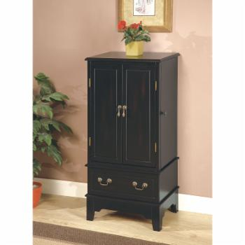 Coaster Furniture Black Wood Jewelry Armoire
