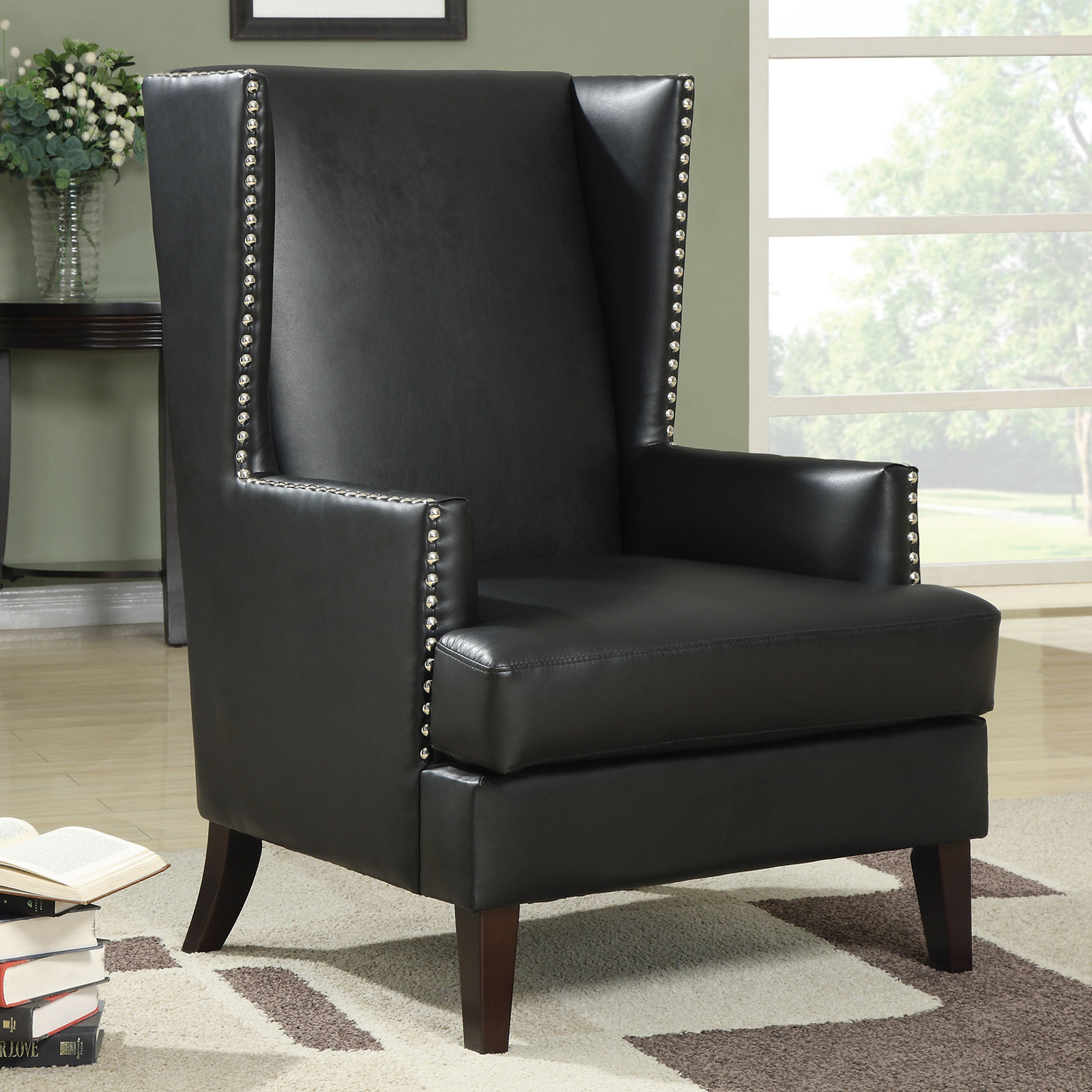 Coaster Furniture Cudahy Wingback Accent Chair