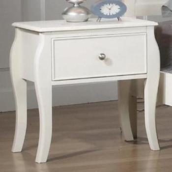 Coaster Furniture Dominique Nightstand with Drawer - White
