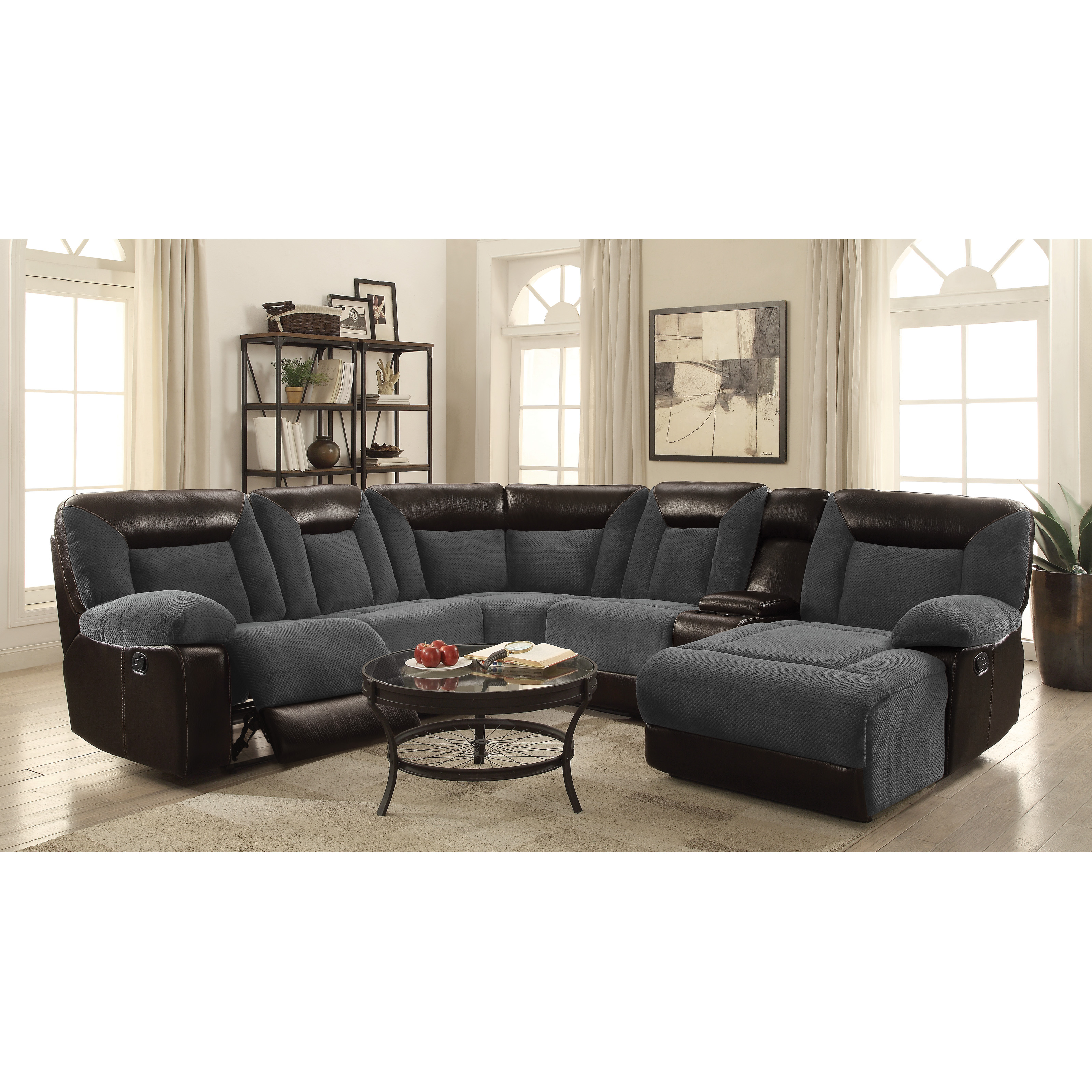 Coaster Furniture Cybele 6 Piece Reclining Sectional