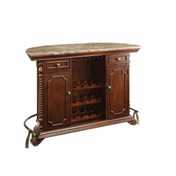 Coaster Furniture 12 Bottle Home Bar with Foot Rail