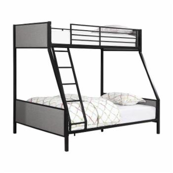 Coaster Furniture Capshaw Upholstered Twin over Full Bunk Bed