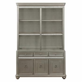 Coaster Furniture Ritzville Decorative Double Bookcase - Metallic Platinum