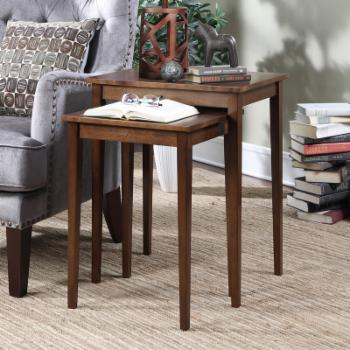 Convenience Concepts American Heritage 2 Piece Nesting End Table