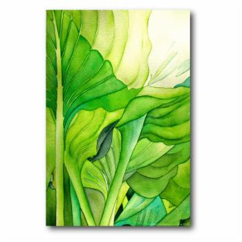 Close - Up Green Flower Canvas Wall Art - 16W x 20H in.