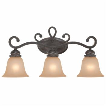 Craftmade Highland Place 25203-MB 3 Light Bathroom Vanity Light