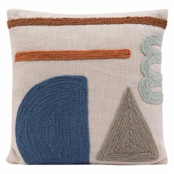 Sprinkle & Bloom Embroidered Geometric Square Decorative Throw Pillow