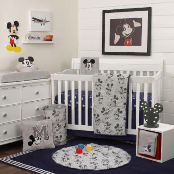 Mickey Mouse 6 Piece Crib Bedding Set by Disney