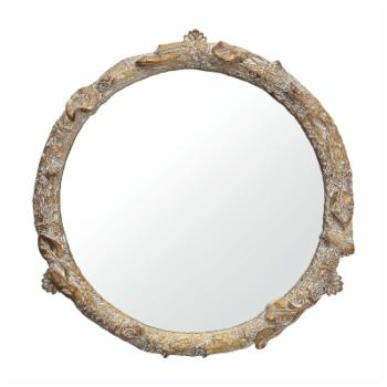3R Studios Round Resin Tray with Mirror