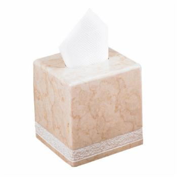 Creative Home Spa Hand Carved Marble Tissue Box Holder