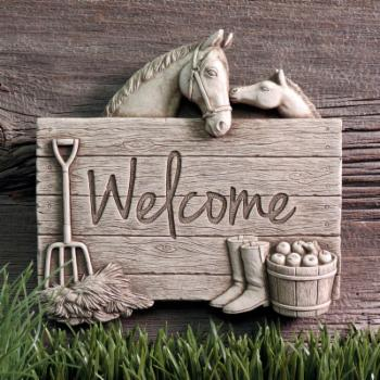 Carruth Studio Barnyard Welcome Outdoor Wall Plaque