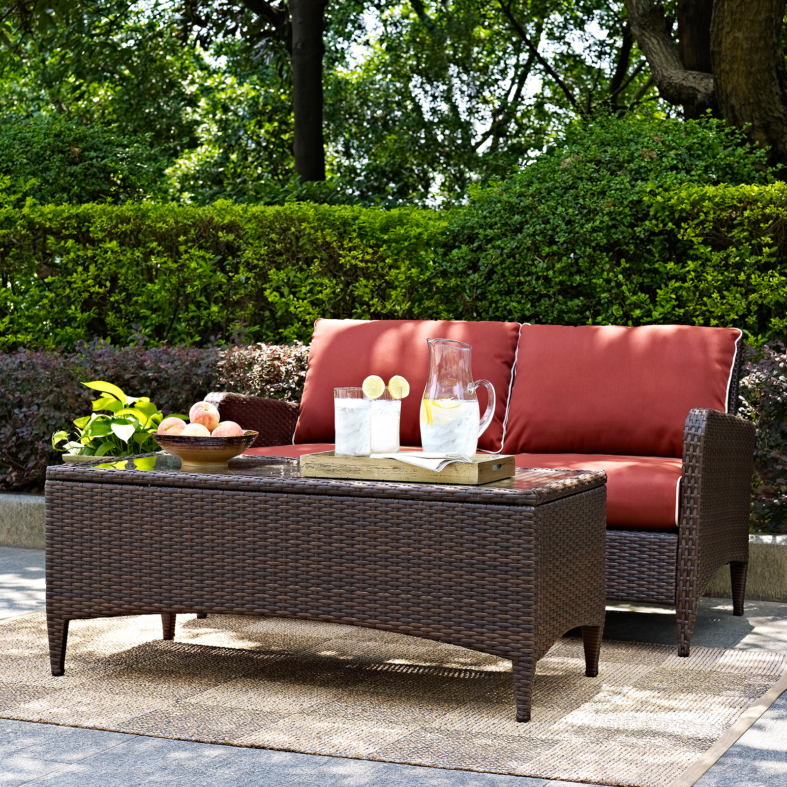 camari loveseat loveseats with cushion outdoor homesullivan p arm square charcoal wicker acclsg gray