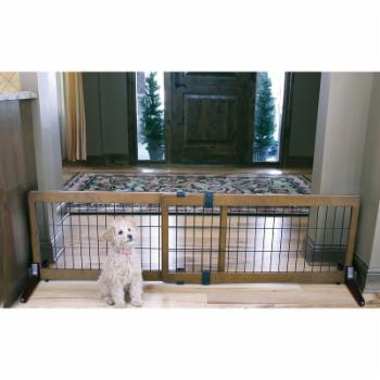 Freestanding Wood Gate Extra Wide - 20 in.
