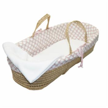 Sweet & Simple Pink Moses Basket by Cotton Tale Designs