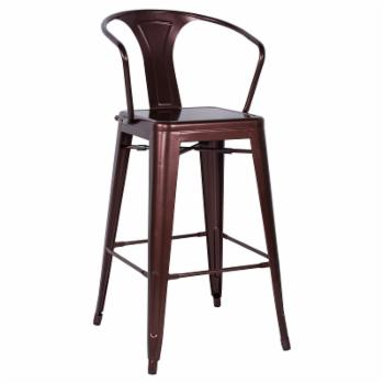 Chintaly Linneus 30 in. Galvanized Steel Bar Stools - Set of 4