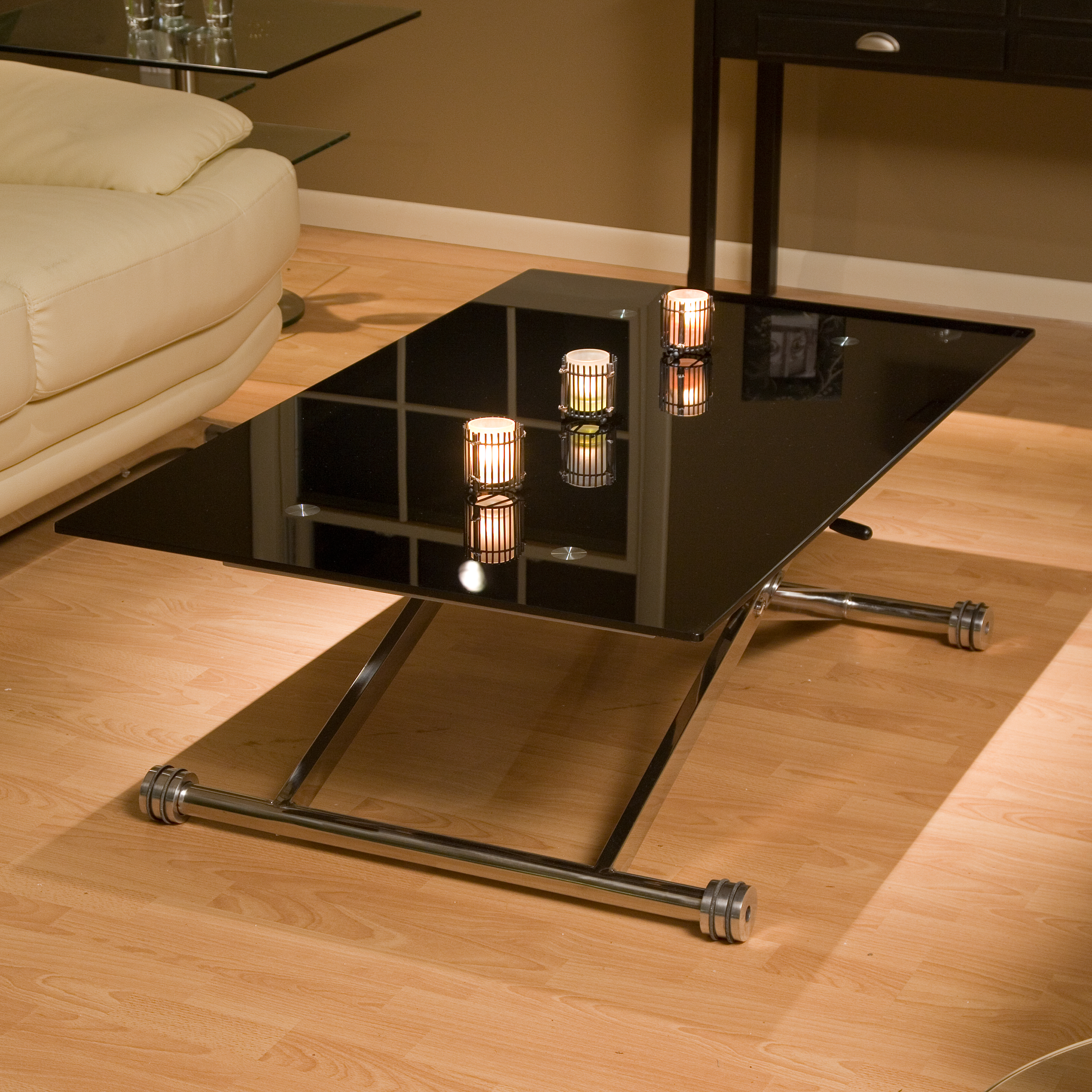 Coffee Table With Adjustable Top Adjustable Height Glass Coffee Table At Hayneedle
