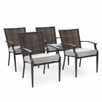 Belham Living Melrosa Wicker Outdoor Stationary Dining Chair - Set of 4