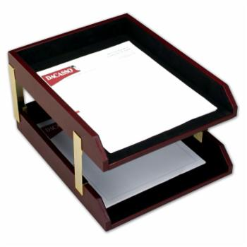 Dacasso Brescia Leather Double Letter Tray