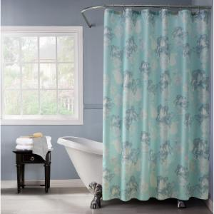 Dainty Home Floral Lurex 13 Piece Shower Curtain And Hook Set