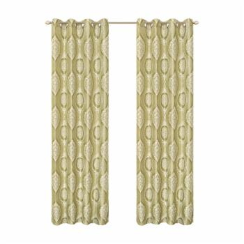 Dainty Home Monaco Heavy Textured Room Darkening Grommet Curtain Panel