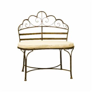 Deer Park Ironworks Wave 32 in. Decorative Metal Bench