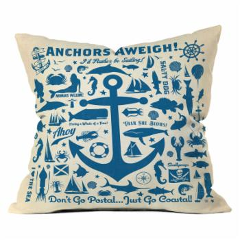 Deny Designs Anderson Design Group Anchors Aweigh Outdoor Throw Pillow
